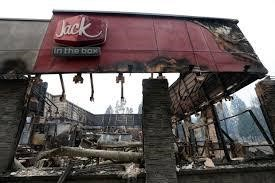 Mangan, Jack in the Box destroyed