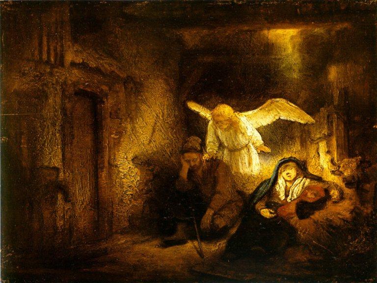(Dream of Joseph - Rembrandt)