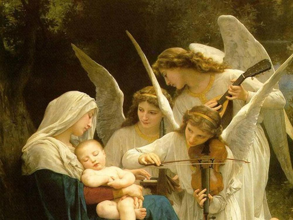 Mary & Jesus w/ Angels