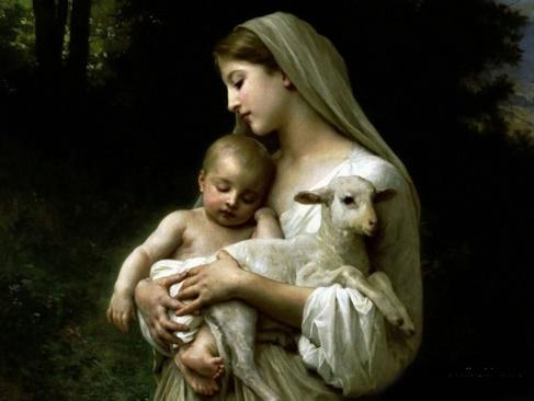 madonna-child_lamb