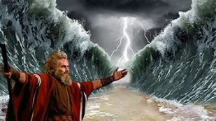 moses parting the sea