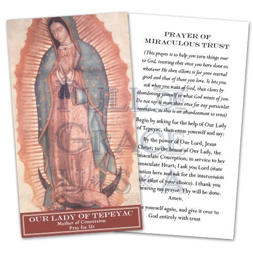 Tepeyac Prayer Card