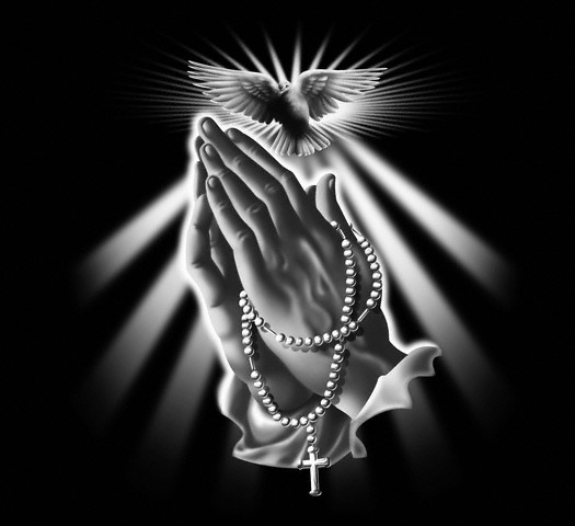 Praying Hands with Beads