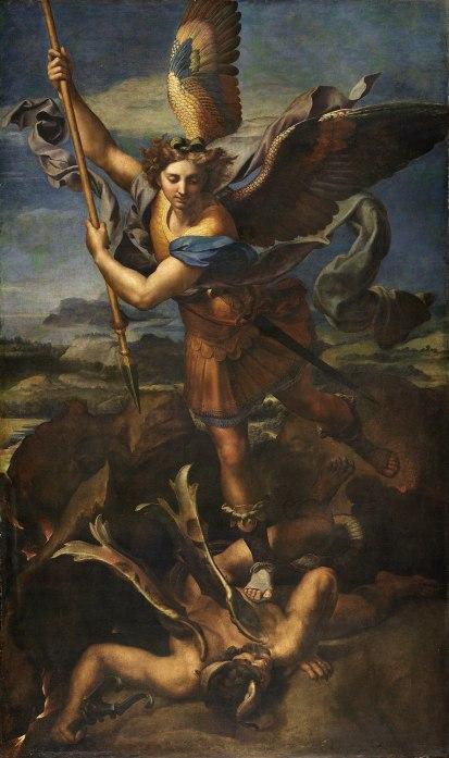 the Great St. Michael, by Rafaello Sanzio