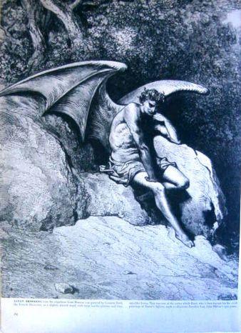 Satan Brooding, Gusstave Dore